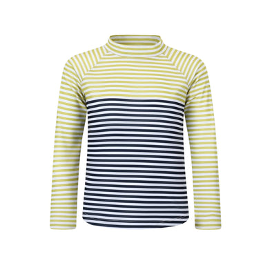 Sandy Feet Australia Long Sleeve Rashie Boys Lemon Charcoal Stripe Long Sleeve Rashie