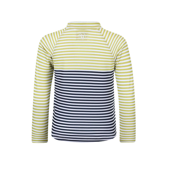 Boys Lemon Charcoal Stripe Long Sleeve Rashie