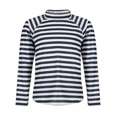 Sandy Feet Australia Long Sleeve Rashie Charcoal Stripe Long Sleeve Rashie