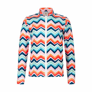 Sandy Feet Australia Long Sleeve Rashie Chevron Colour Burst Long Sleeve Zip Rashie