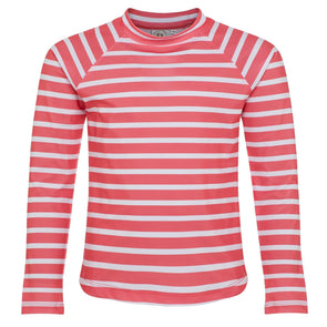 Sandy Feet Australia Long Sleeve Rashie Coral Stripe Long Sleeve Rashie
