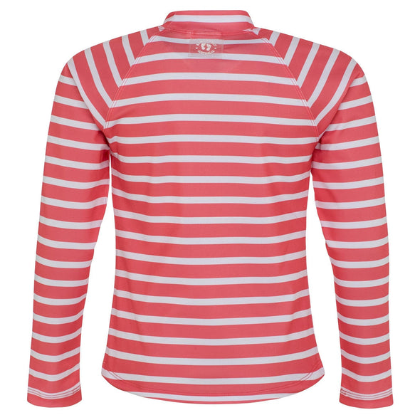 Coral Stripe Long Sleeve Rashie