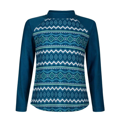 Sandy Feet Australia Long Sleeve Rashie Seascape Tribal Long Sleeve Rashie