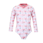Girls Flamingo Flamboyance Long Sleeve Sunsuit