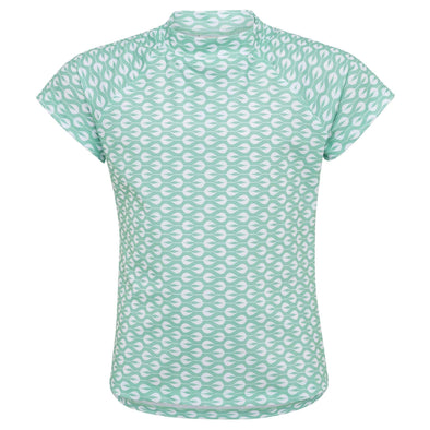 Sandy Feet Australia Short Sleeve Rashie Light Mint Sea of Buds Short Sleeve Rashie