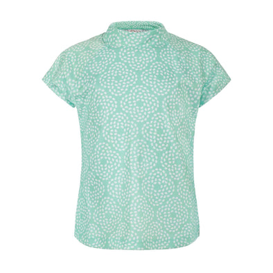 Sandy Feet Australia Short Sleeve Rashie Mint Flower Pebble Short Sleeve Rashie