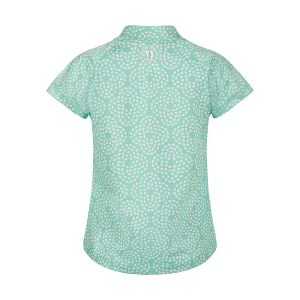 Mint Flower Pebble Short Sleeve Rashie