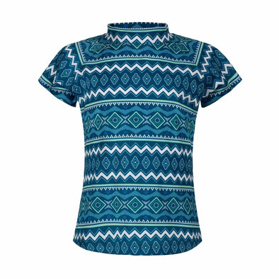 Sandy Feet Australia Short Sleeve Rashie Seascape Tribal Short Sleeve Rashie