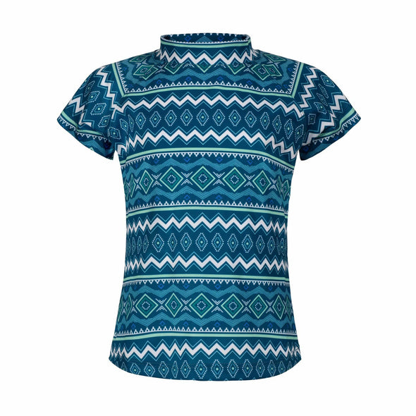Seascape Tribal Short Sleeve Rashie