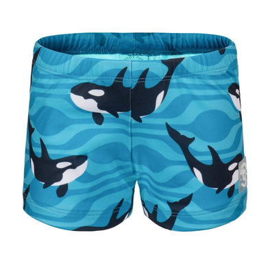 Sandy Feet Australia Swim Shorts Blue Orca Swim Shorts