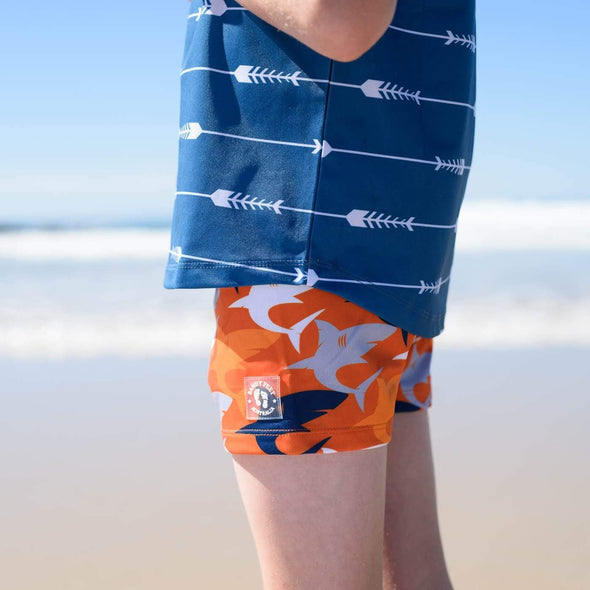 Boys Lava Shark Frenzy Swim Shorts