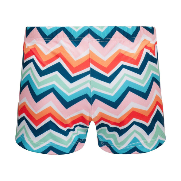 Chevron Colour Burst Swim Shorts