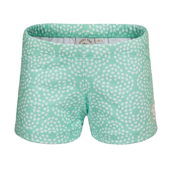 Mint Flower Pebble Swim Shorts
