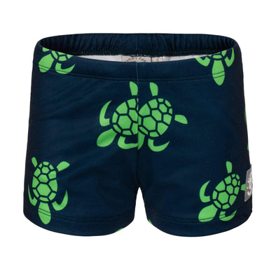 Sandy Feet Australia Swim Shorts Navy Turtle Bale Swim Shorts