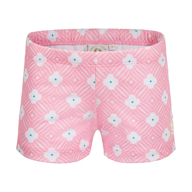 Sandy Feet Australia Swim Shorts Pink Flower Swim Shorts