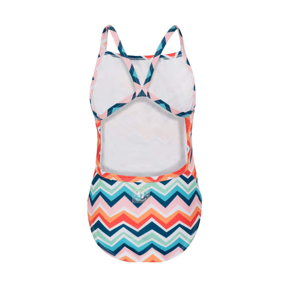 Chevron Colour Burst Racerback Swimsuit