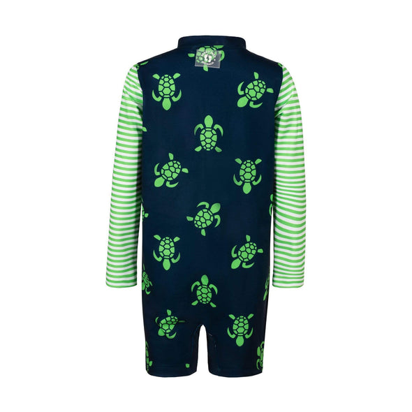 Navy Turtle Bale Toddler Sunsuit