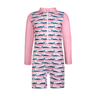 Sandy Feet Australia Toddler Sunsuits Pink Whale Toddler Sunsuit