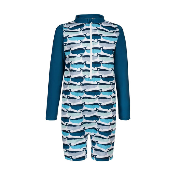 Whale Pod Toddler Sunsuit
