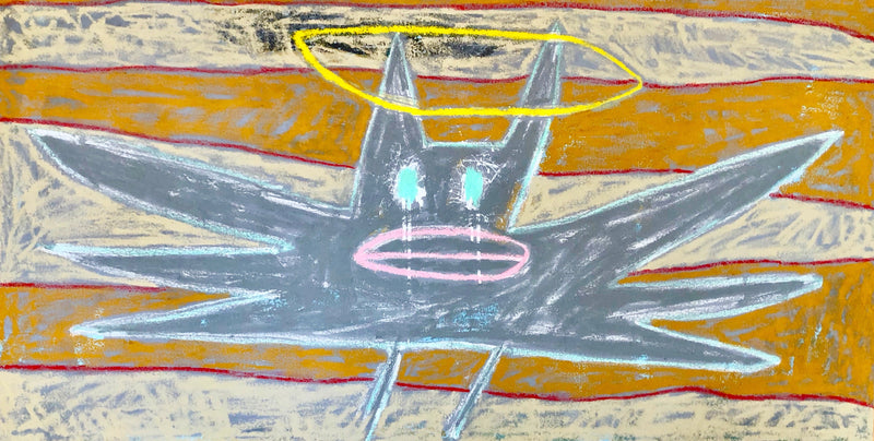 Karma Bat, bat, Oil Painting, Adam Handler, gift shop, art gallery, painting, fine art, home decor, Los Angeles, La Maison Rebelle