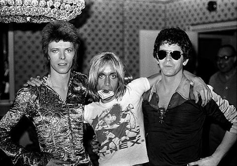 David Bowie, Iggy Pop and Lou Reed, Dorchester Hotel London 1972, By Mick Rock