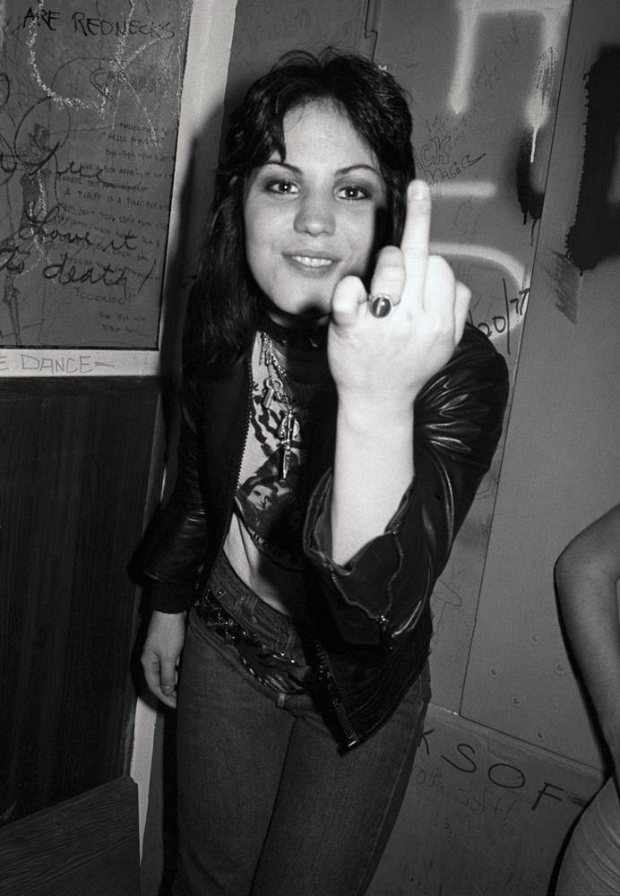 Joan Jett, finger, 1977, Brad Elterman, Fine art, photography, home decor, wall decor, interior design, La Maison Rebelle, gift shop, Los Angeles, fine art photography, signed, limited edition, art gallery, gallery, hollywood