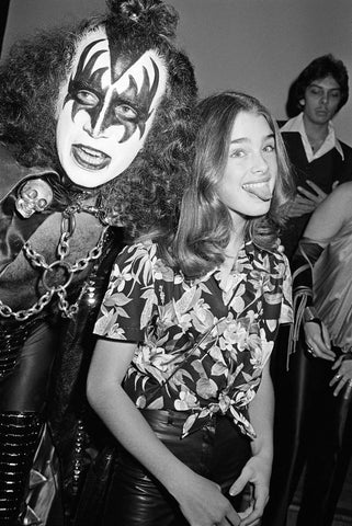Kiss with Brooke Shields, By Brad Elterman 1978