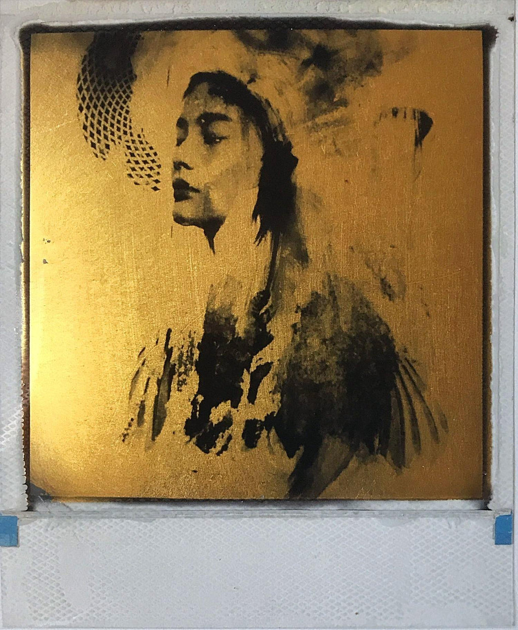 Echo,  Andrew Millar, gold foil, polaroid, art, La Maison Rebelle, gift shop, Los Angeles, gallery, fine art