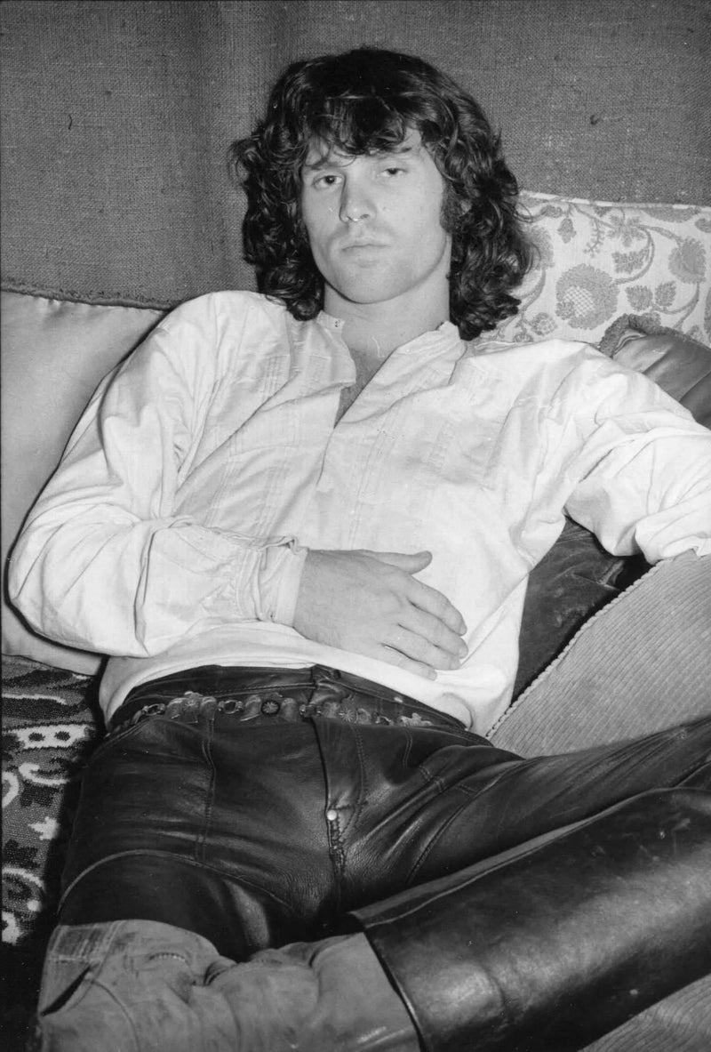 Collection of 6 photos of Jim Morrison. By Gloria Stavers. LA MAISON REBELLE