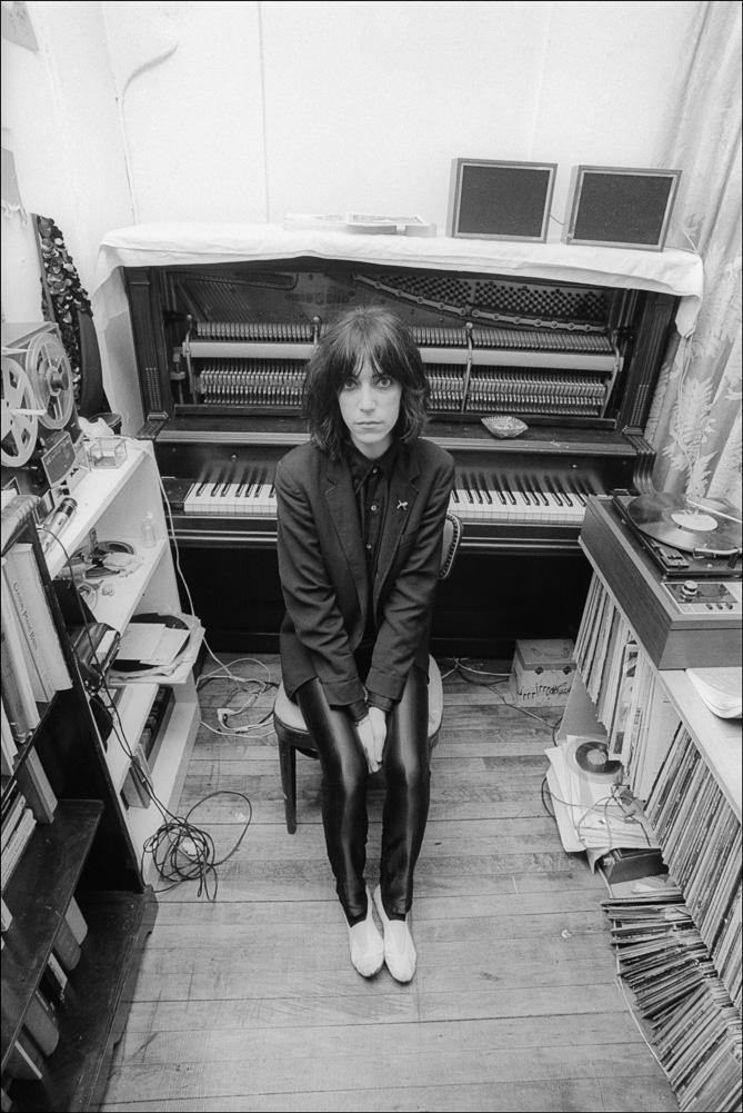 Patti Smith, piano, 1974, Allan Tannenbaum, Fine art, photography, home decor, wall decor, interior design, La Maison Rebelle, gift shop, Los Angeles, fine art photography, signed, limited edition, art gallery, gallery, new york city