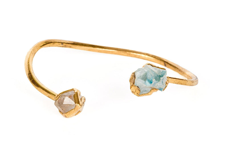 Aqua Aura,Bracelet, gold, women, men, unisex, copper ,Bobo Jewelry, Crystal, Quartz, Infinity, Ring, gift shop, art gallery, crystal, fine jewelry, gifts, adjustable ring, Los Angeles, La Maison Rebelle