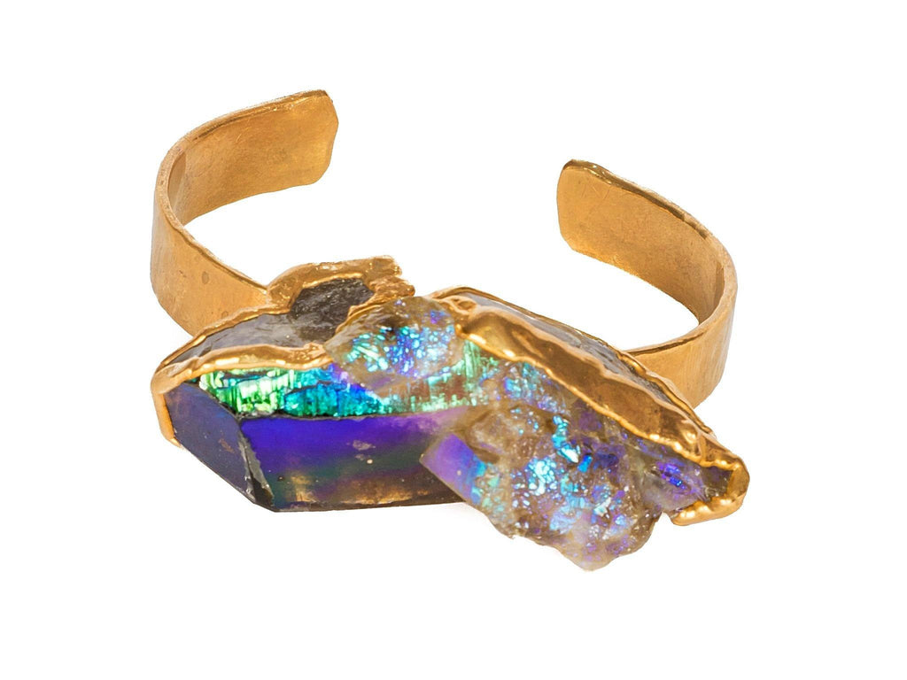 Titanium, Quartz, Cuff, Crystal, Amethyst, Green Tourmaline, Bobo Jewelry Crystal, Quartz, Infinity, Ring, jewelry, la maison rebelle, los angeles, gift shop, art gallery, gifts