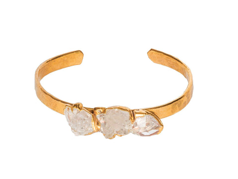 Bobo Jewelry Triple Crystal Quartz Bracelet