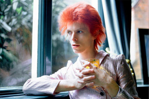 David Bowie Haddon Hall Reflection, UK 1972, By Mick Rock
