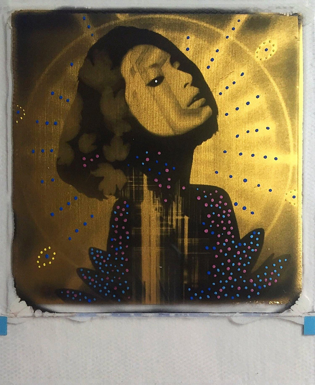 Diamond Skies, Andrew Millar, gold foil, polaroid, art, La Maison Rebelle, gift shop, Los Angeles, gallery, fine art