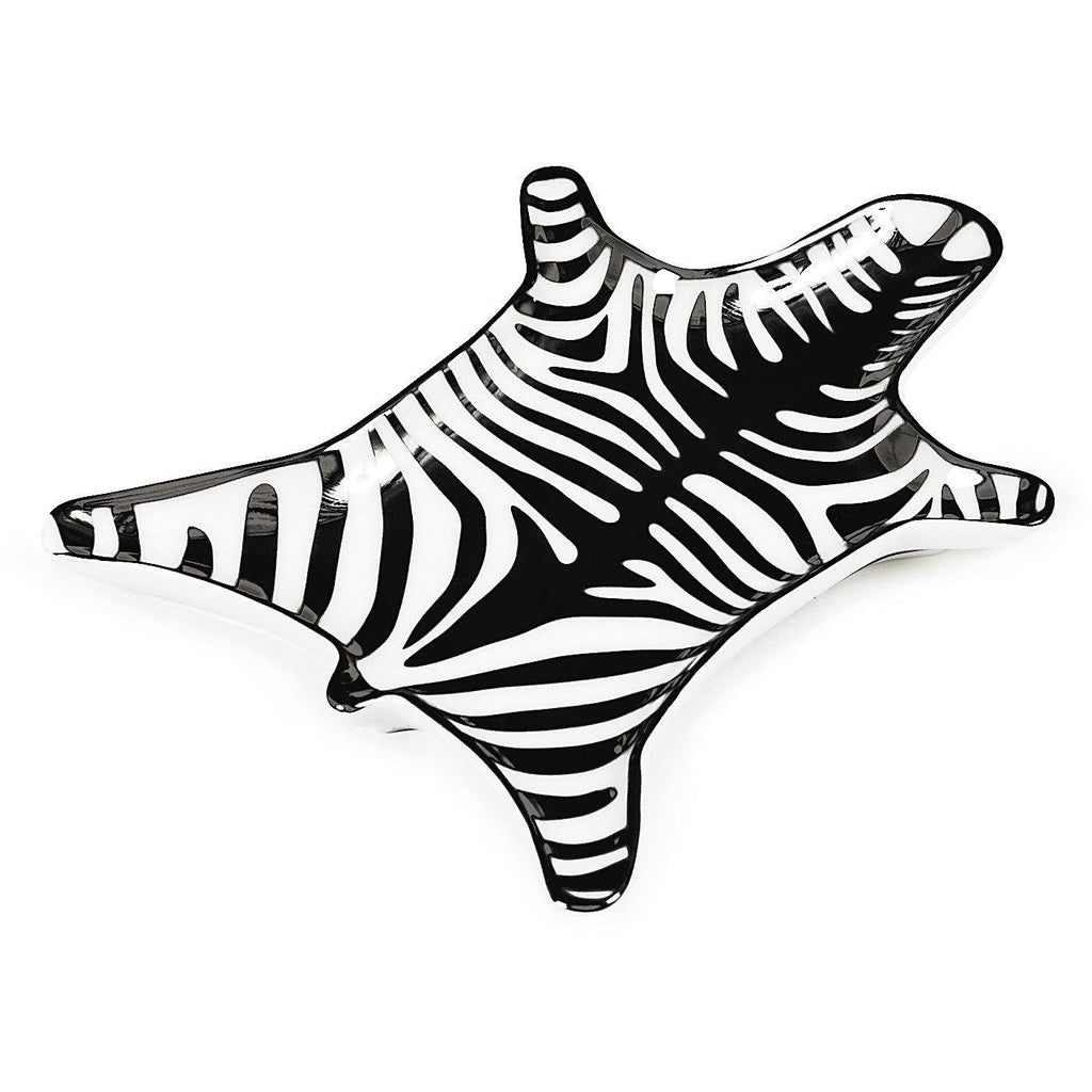 Carnaby Zebra Stacking Dish, zebra, dish, tray, black and white, Jonathan Adler, design, art, gift shop, home decor, art gallery, La Maison Rebelle, Los Angeles.
