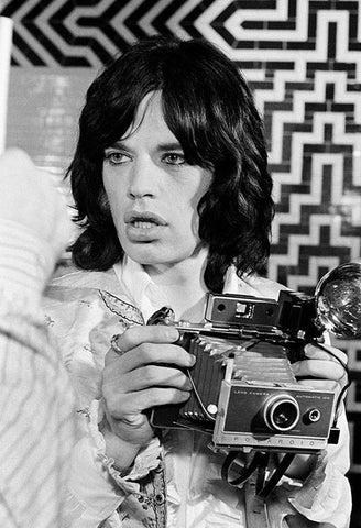 Mick Jagger on the set of 'Performance', London 1968, By Baron Wolman