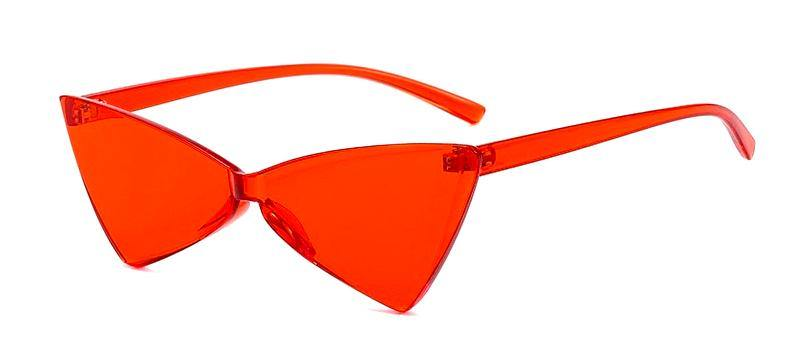 red, triangle, sunglasses, acrylic, plastic, trendy, fashion, accessories, gift, party, burning man, festival, la maison rebelle, Los Angeles