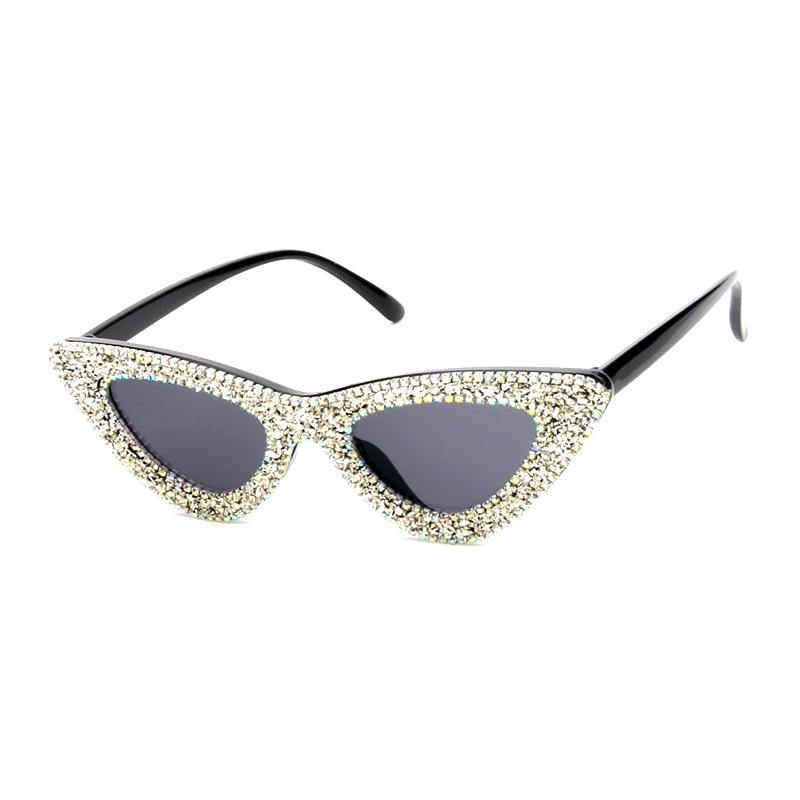 rhinestone, cat eye, sunglasses, silver, 1950s style, 1970's style, fun sunglasses, party glasses, black, gift shop, los angeles, la maison rebelle, glitter