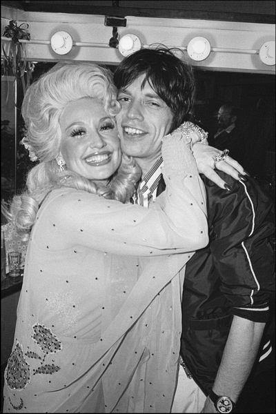 Dolly Parton, Mick Jagger, 1977, Allan Tannenbaum, Fine art, photography, home decor, wall decor, interior design, La Maison Rebelle, gift shop, Los Angeles, fine art photography, signed, limited edition, art gallery, gallery, new york city