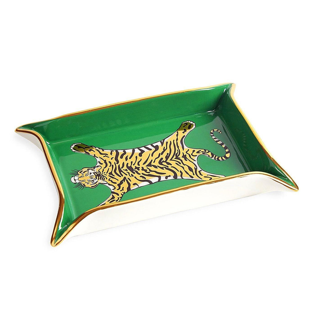 Valet, Tiger, Tray, green, gold, luxury decor, Jonathan Adler, sculpture, decor, home, art, gift shop, gifts, home decor, art gallery, los angeles, La Maison Rebelle, Los Angeles.
