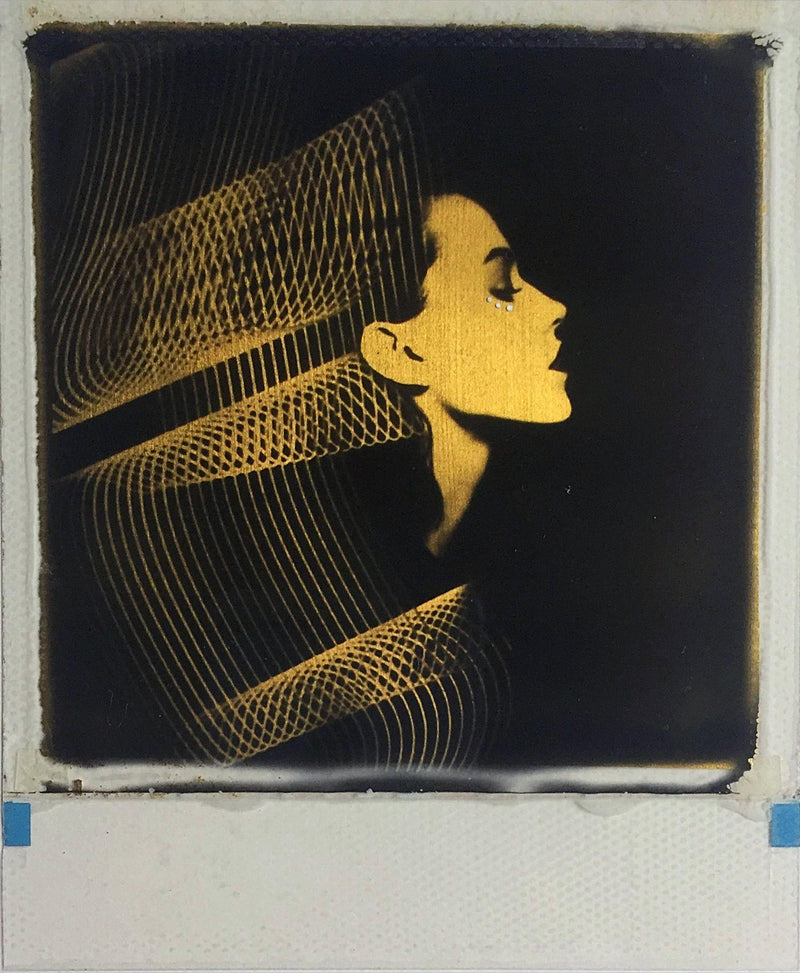 Twist The Light, Andrew Millar, gold foil, polaroid, art, La Maison Rebelle, gift shop, Los Angeles, gallery, fine art