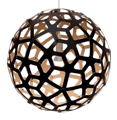 David trubridge coral pendant light vesta design store vesta david trubridge light in coral black one side outside aloadofball Gallery