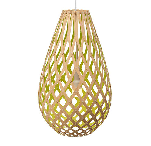 Koura light by David Trubridge in painted Lime