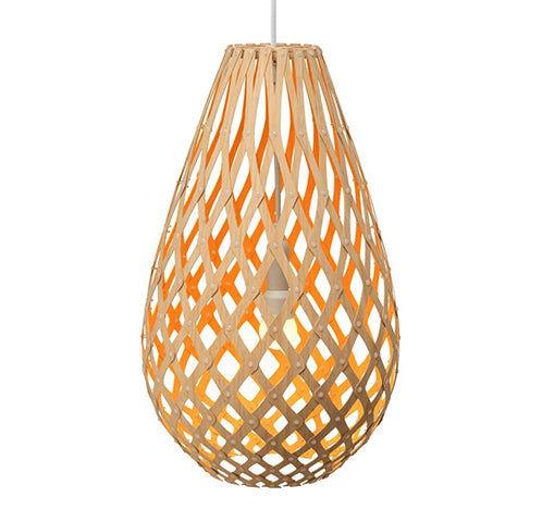 Koura light by David Trubridge in painted Orange