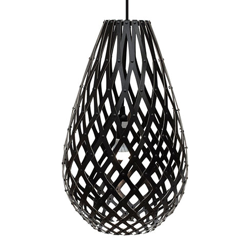 Koura light by David Trubridge in painted Black both sides