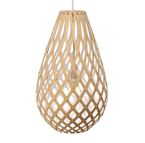 Koura light by David Trubridge in painted White one side