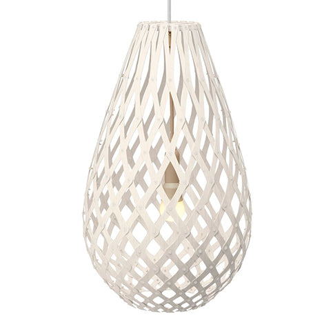 Koura light by David Trubridge in painted White both sides