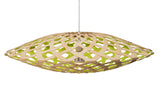 Flax light by David Trubridge in painted lime