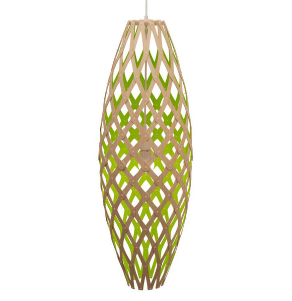 Hinaki light by David Trubridge in painted Lime